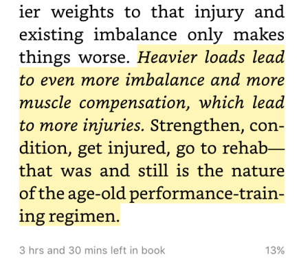 Imbalance -> Compensation -> More Injuries